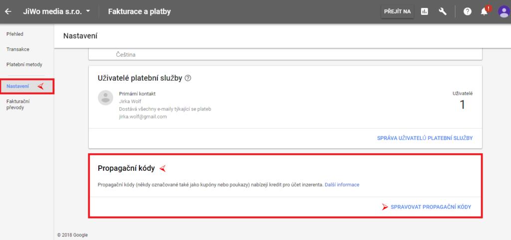 Google Adwords - kód 2