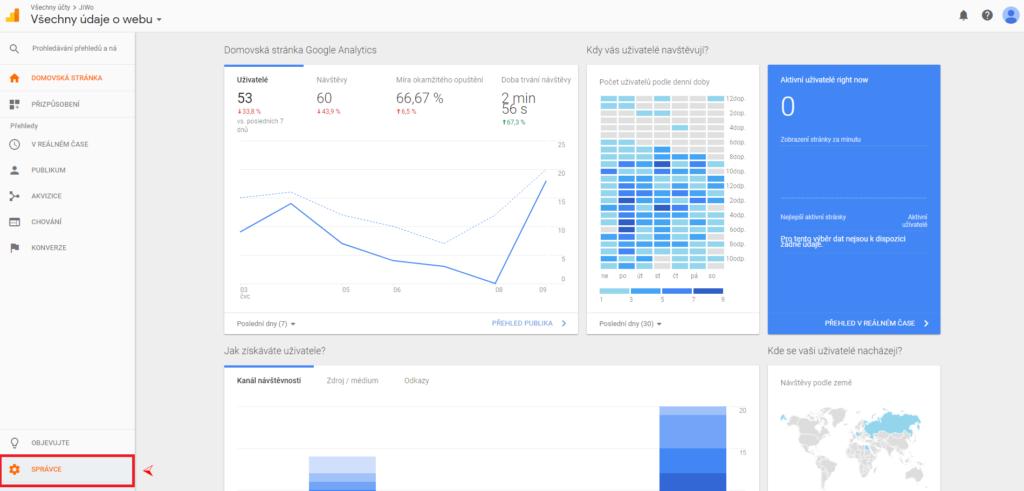 Google Analytics - sdílení přístupu