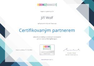 certifikát bidding manager