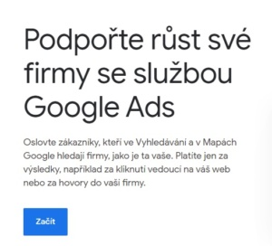 Google Ads - založení účtu 1